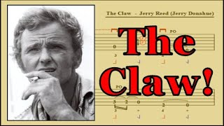 The Claw Guitar Lesson/Tab: Hybrid Picking Slow and Close Up (Jerry Reed/Jerry Donahue)