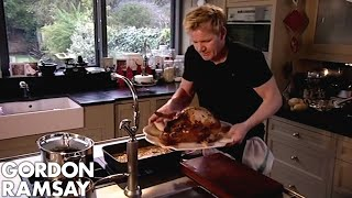 CHRISTMAS RECIPE: Roasted Turkey With Lemon Parsley & Garlic | Gordon Ramsay