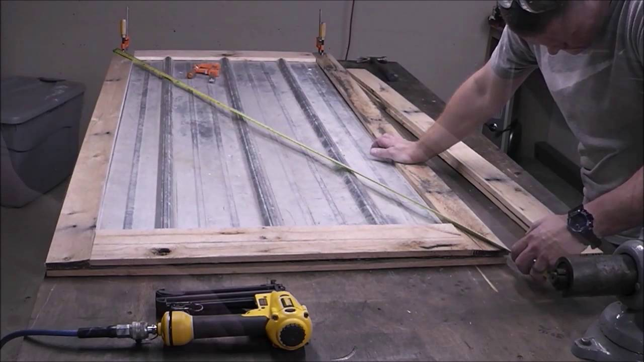 Building A Reclaimed Wood Door From Pallet Wood And Metal