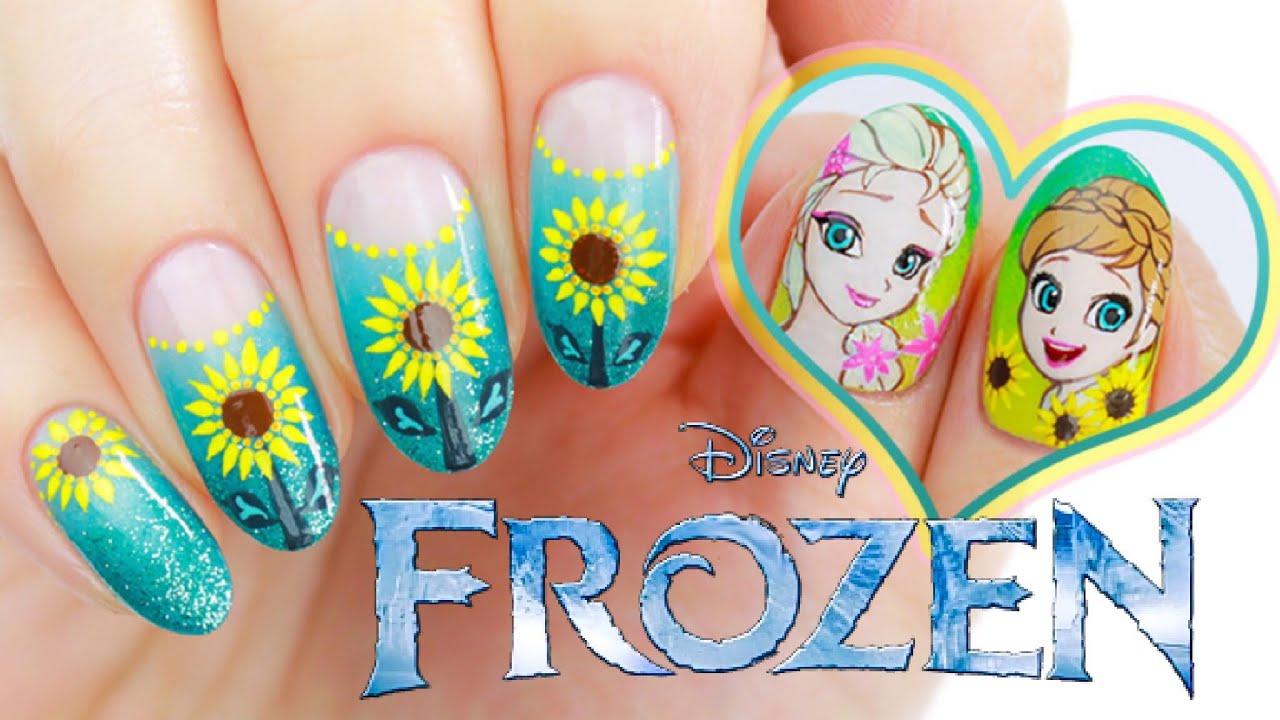disney's frozen anna & elsa nail