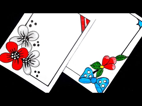 Easy Drawing How To Draw Easy Border Designs For Projects Simple Border Designs For Assignments Youtube