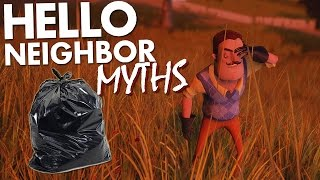 TELEPORT GLITCH & DOES BURNING HIS TRASH REVEAL ANYTHING?! | Hello Neighbor Myths