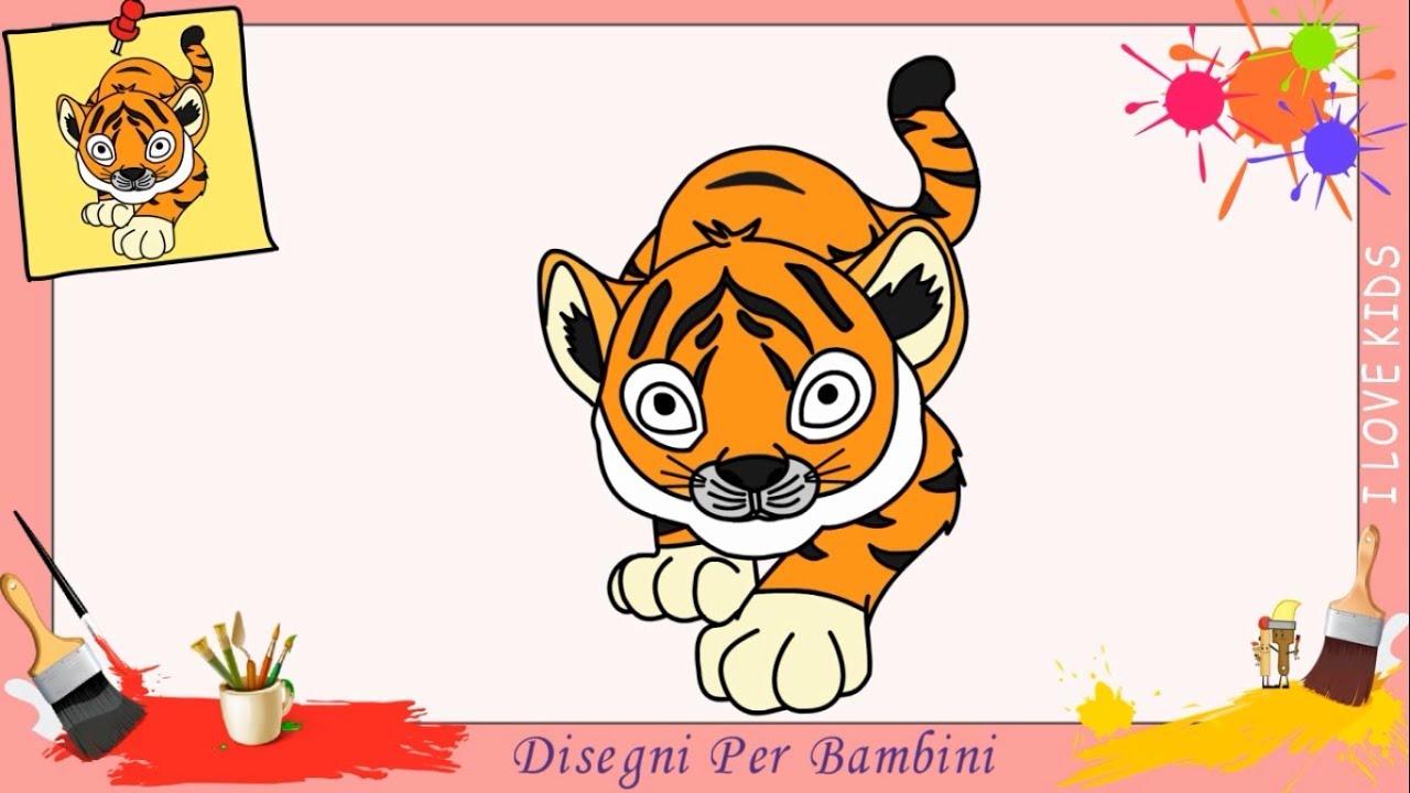 Disegni di tigri facili per bambini come disegnare una for Immagini di disegni facili