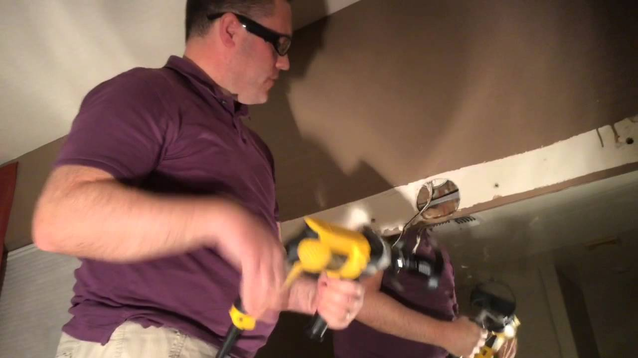 Bathroom Vanity Light Has No Junction Box how to move light fixtures and junction boxes - youtube