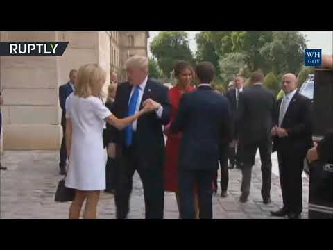 The gem of Trump's handshake collection: See US president greeting French first lady