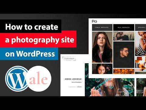 Как сделать фото сайт на wordpress