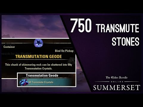How to get 750 Transmute Stones - Summerset Chapter ESO