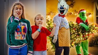 Grinch vs Evil Ice Cream Maker! Who scares us better ?!