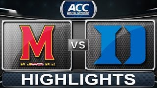 Maryland vs Duke | 2014 ACC Basketball Highlights