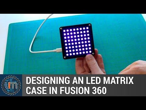 Designing an LED Matrix case in Fusion 360