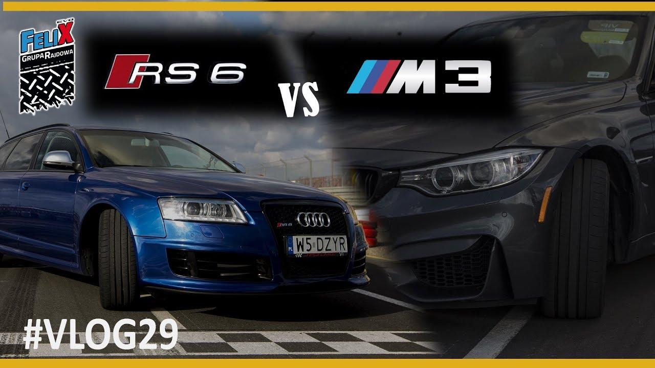 AUDI RS6(780kM)  vs BMW M3(430kM) Pojedynek na Torze Słomczyn #VLOG29 – Grupa Rajdowy Felix