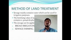 Disposal of Sewage
