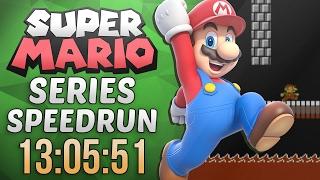 Super Mario Series Speedrun in 13:05:51 (Super Mario Bros. Lost Levels)