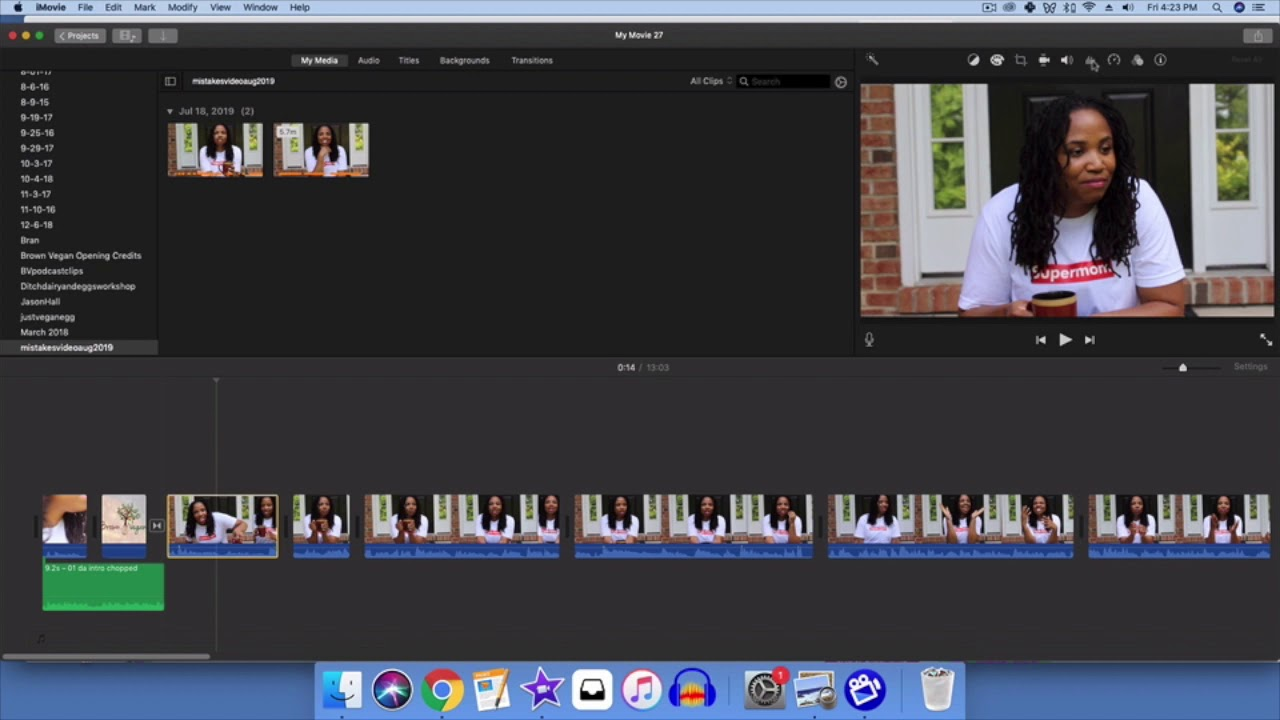 How To Reduce Video Background Noise In Imovie Youtube