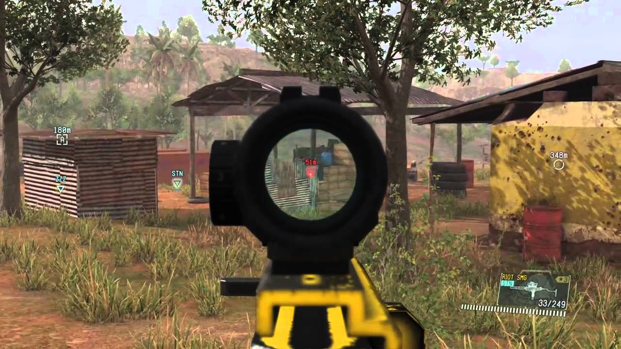 MGS5 Taking the Child Army OUT Non Lethal Riot SMG Tranq Sniper PS4  Gameplay Metal Gear Solid V