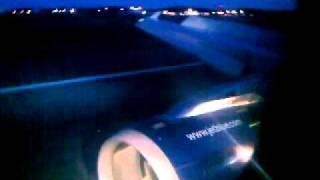 Beautiful Night Landing at Ted Stevens International Airport.