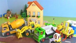 Bagger, Lastwagen & Trucks - Baustelle für Kinder Playmobil Vehicles for Kids