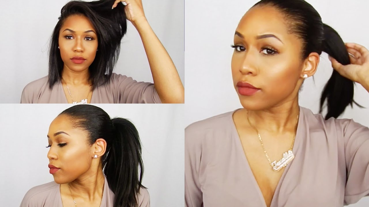 Faux High Ponytail For Short Hair (Weave Ponytail