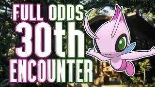 FULL ODDS 30 Encounter Shiny Celebi Reaction! My LUCKIEST Shiny EVER!