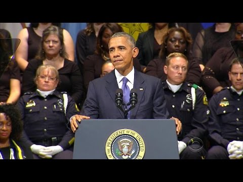 President Obama delivers emotional speech at Dallas memorial