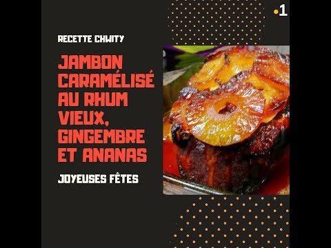 jambon-caramélisé-au-rhum-vieux,-gingembre-et-ananas---recette-chwity