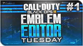 BEST EMBLEMS EVER! - Most Creative Black Ops 3 Emblems! (Emblem Editor Tuesday #1)