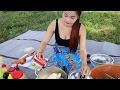 Village Food Victory - Beautiful Girl Cooking Chicken with COCA COLA