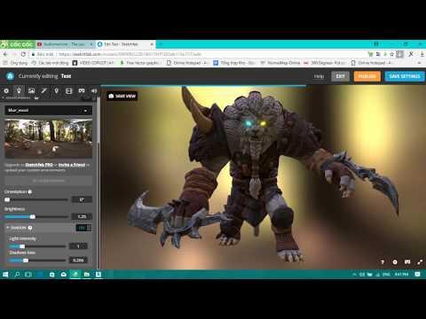 Tutorial upload 3D models to Sketchfab