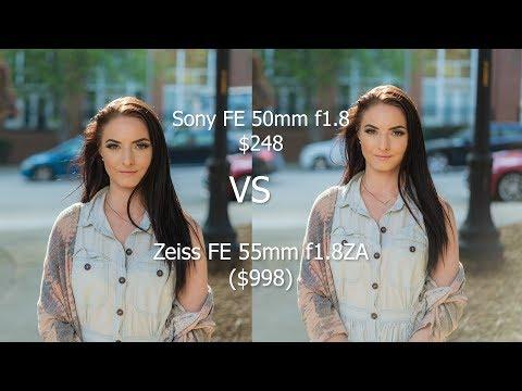 Sony FE 50mm f1.8 ($248) vs Zeiss FE 55mm f1.8 ($998)