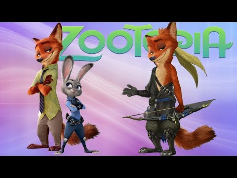 ZOOTOPIA Characters as Heroes of VIDEOGAMES!