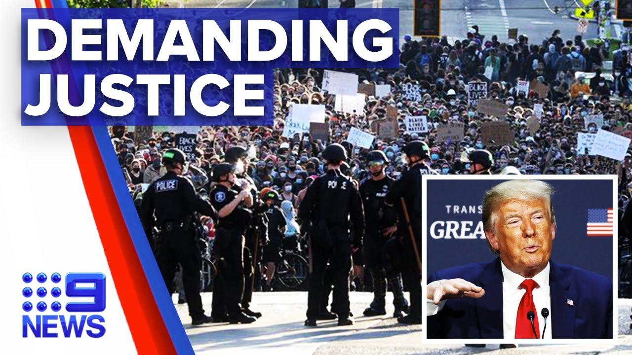 US enters third week of protests | Nine News Australia