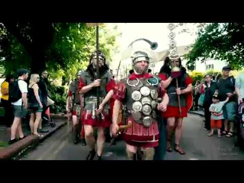 Ermine Street Guard (Roman Soldiers) at the St Albans Roman Festival, UK, 2019 - 4K UHD