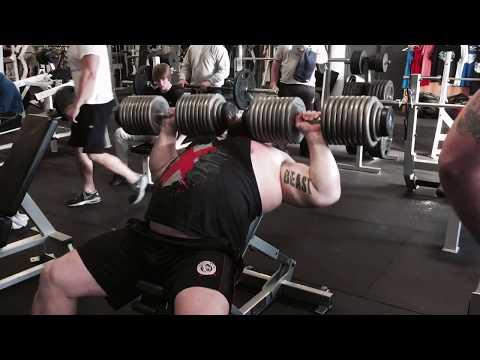 EDDIE HALL 100kg DUMBBELL PRESS 7 Reps Strength Asylum Gym