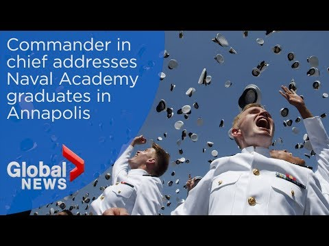 President Trump delivers keynote speech to Naval Academy graduates
