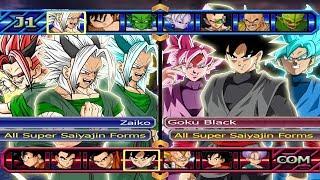 Baixar Zaiko All SSJ Forms VS Goku Black All SSJ Forms | Dragon Ball Z Budokai Tenkaichi 3