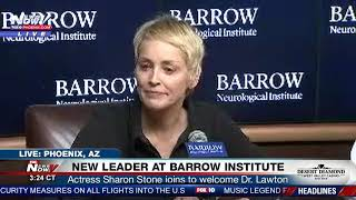 FNN: Sharon Stone Visits PHX Barrow Neurological Institute to Welcome Dr. Lawton Who Saved Her Life