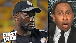 Stephen A. reacts to James Harrison claiming Mike Tomlin gave him an envelope after hit | First Take