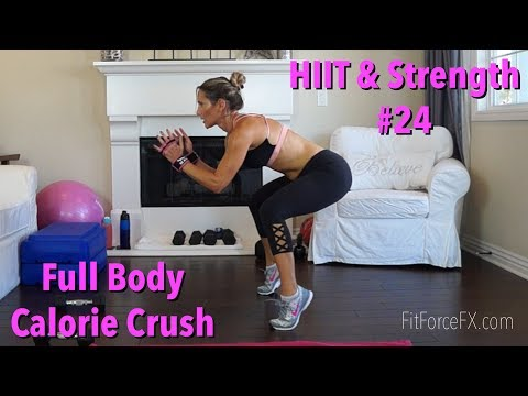 Full Body Calorie Crush: HIIT & Strength Workout No. 24 #cal