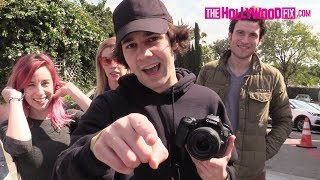 David Dobrik Speaks On Logan Paul When Spotted At Selena Gomez's Paparazzi Shoot At Tocaya