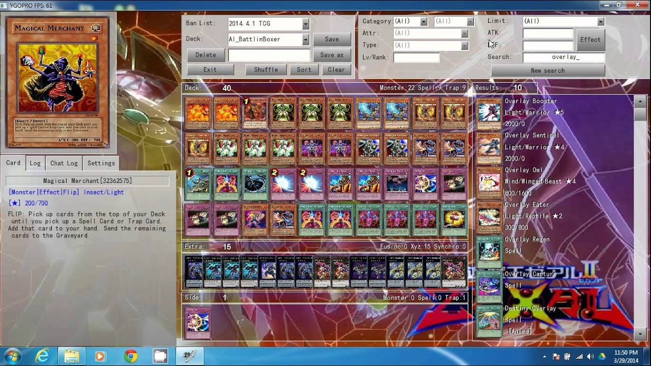 Building Deck Tutorial-Ygopro