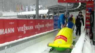 Australian bobsled crashed in Königssee