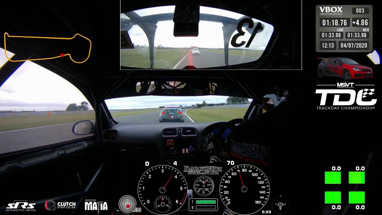 Darkside VW Golf Cup TDI DSG - MSV Trackday Championship Race Start