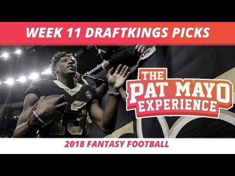 2018 Fantasy Football — Week 11 DraftKings Picks, Preview, Sleepers