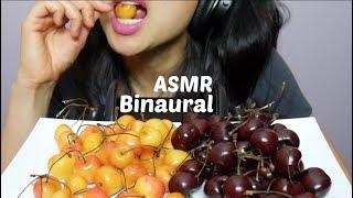 ASMR Binaural Cherries Eating Sounds (3Dio Mic)   SAS-ASMR