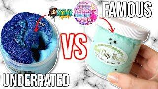 FAMOUS VS UNDERRATED SLIME SHOP REVIEW!