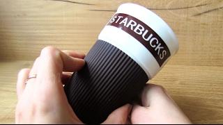 Кружка Starbucks керамическая с крышкой (Видео обзор) podarki-odessa.com