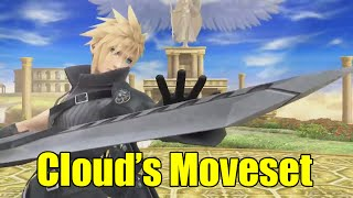 Cloud Moveset in Super Smash Bros Wii U (Moveset Breakdown)