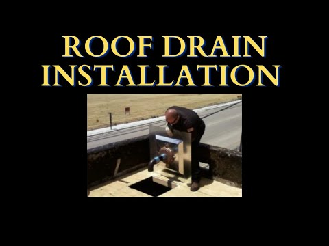 8 Professional roof drain Installation of a Zurn 15