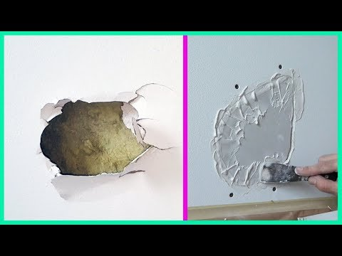 How To Fix A Hole In The Wall Drywall Patch Repair. Как заделывать дыру в гипсокартоне