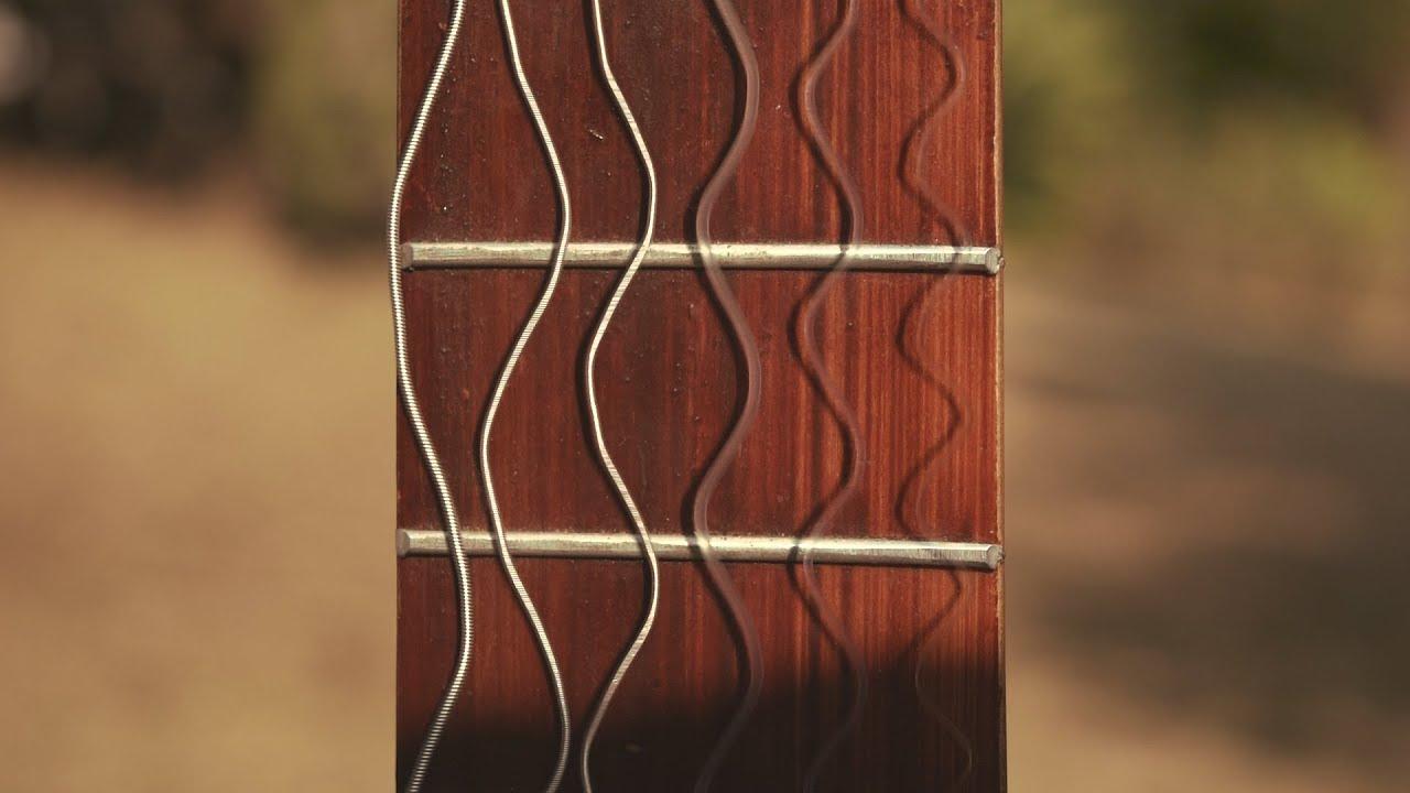 guitar strings vibrating youtube. Black Bedroom Furniture Sets. Home Design Ideas